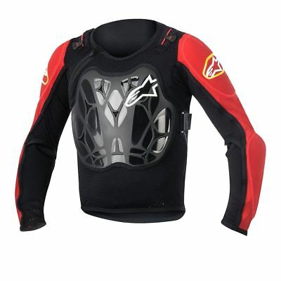 Alpinestars Youth Bionic Protection Jacket Grid Technology Black/Red One Size