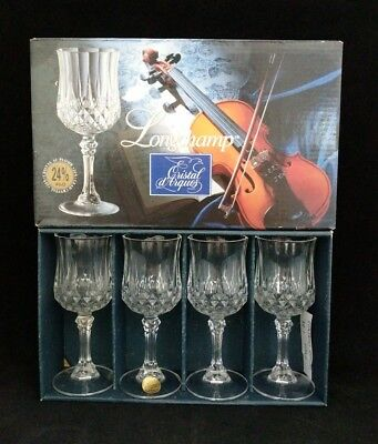 Longchamp 25% Lead Crystal Stemware, Set of 4, Cristal d'Arques, Made in France