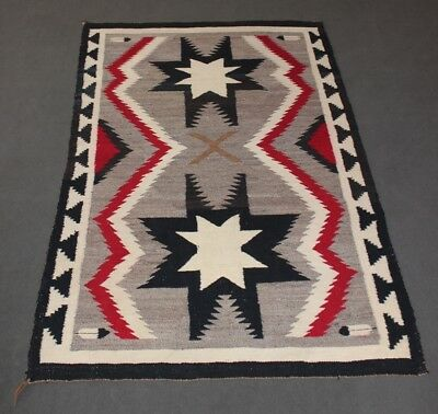Navajo Indian Rug Valero Star Woven Southwest