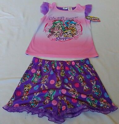 Shopkins Shoppies pajamas 2 piece set size 10/12
