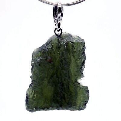 MOLDAVITE - 7.48 grams Sterling Silver Pendant - PERFECT GIFT CHRISTMASS COMING