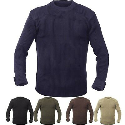 Crew Neck Acrylic Military Sweater Uniform Army Commando Thick Warm Winter