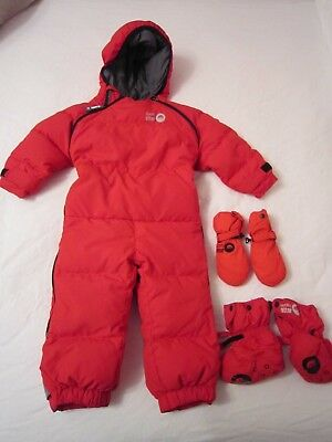 Spotty Otter Down Chillibug snowsuit, mitts and booties excellent condition