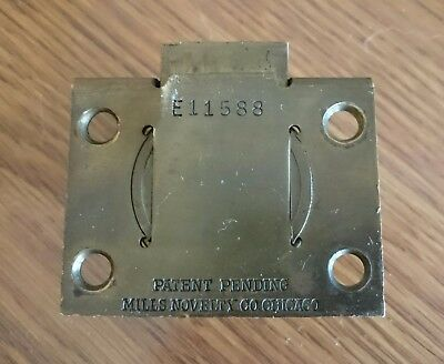 Mills Slot Machine Lock E11588 Antique