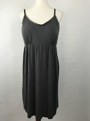 BUMP IN THE NIGHT XL Nursing Gown Dress Pajamas! charcoal gray maternity