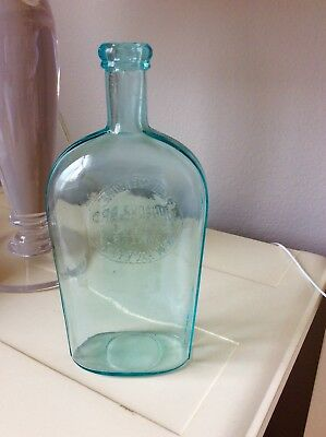johnson&bro /ESTD1861/Grocers/New HavenCT-conn Flask Whiskey spirits Connecticut