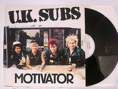 U.K. Subs - The Motivator - 5 Songs Mini-LP playing on 45 rpm 1989 Rebel D NMint