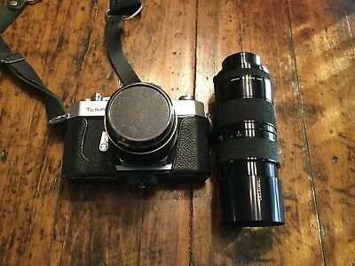Yashica TL-SUPER Camera with Auto YASHINON-DX 50mm Lens  with Tamron 85-210 Zoom