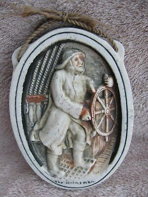 Ivorex Oval Wall Plaque The Helmsman New England