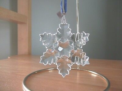 Swarovski Crystal Retired Annual Christmas Snowflake 1996 Ornament w/box