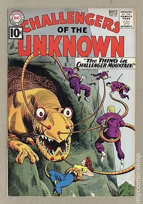 Challengers of the Unknown (DC 1st Series) #22 1961 VG- 3.5