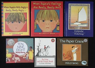 Lot 6 MOLLY BANG/CALDECOTT Ten,Nine,Eight/Sophie Gets Angry/Feelings Are Hurt ++