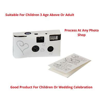 10x Wedding Bridal Camera With Flash & Table Card 35mm High Quality Color Film