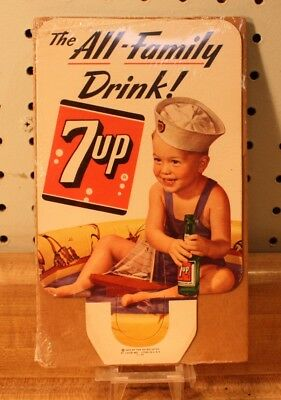 Vintage 1953 Collectible 7 Up Bottle Topper