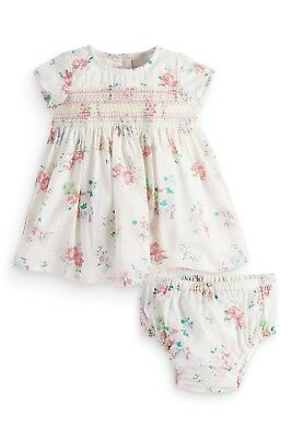 ВNWT NEXT Party • Ecru Floral Embroidered Dress+Pants • 100% Cotton • 0-3 Months