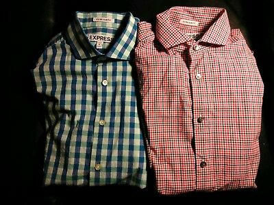 Lot of 2 Express button shirts size small