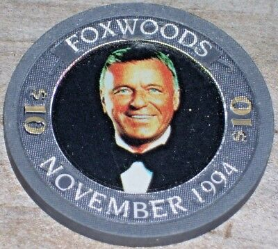 $10 Frank Sinatra Edition Gaming Chip From Foxwoods Casino Ct. 1994