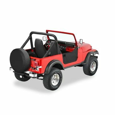 Bestop 53038-01 Soft Lower Half Doors Black for 1980-1995 CJ-7/Wrangler
