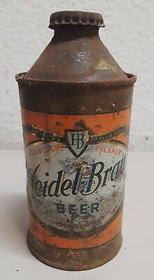 Heidel-Brau Beer.  Cone Top,  Beer Can. with cap