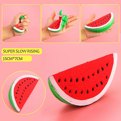 Squeeze Squishy Watermelon Fruit Slow Rising Simulation Stress Stretch Toys Gift