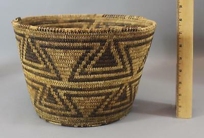 Large Antique Western Circa 1900 Plains Native American Indian Basket NR