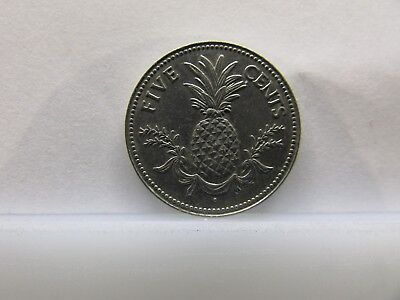 Bahamas 1981 Coin, 5 cents - Pineapple Nice Heritage Gift Item