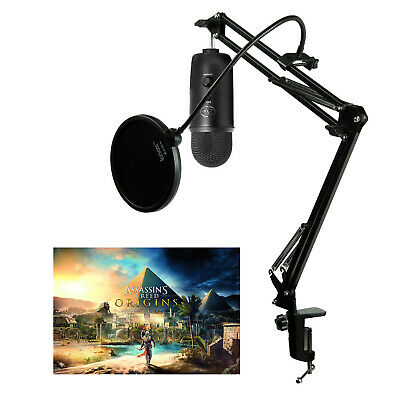 Blue Microphones Blackoutyeti Assassins Creed with Knox Boom Arm and Pop Filter