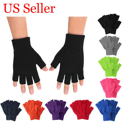 New Unisex Winter Warm Keep Magic Fingerless Half Finger Knitted Gloves Mittens
