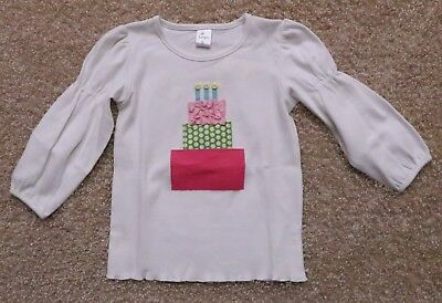 Beehave Girl's Boutique Birthday Cake Top Shirt Long Sleeved New Choice