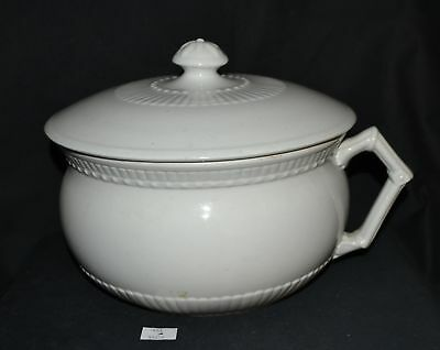 ThriftCHI ~ Johnson Brothers Ironstone Chamber Pot w Lid