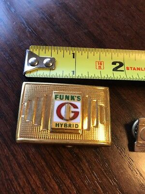 Vintage One Of A Kind Funk's G Hybrid, Funks Seed Corn Brass BELT BUCKLE