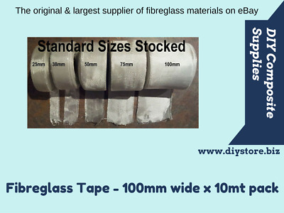 10mt pack, 98gm Fibreglass Cloth Tape 100mm wide (FREE FREIGHT) For Epoxy & Poly