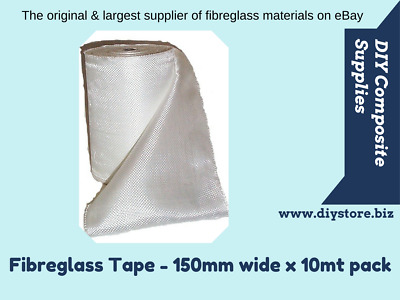 10mt pack, 98gm Fibreglass Cloth Tape 150mm wide (FREE FREIGHT) For Epoxy & Poly