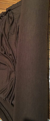W-923333  Exquisite Italian 100%wool Light Knit Fabric In Dark Brown Per Yard