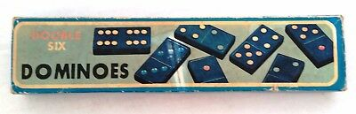 Double Six Dominoes Game Vintage wooden 28 Pieces Domino retro family