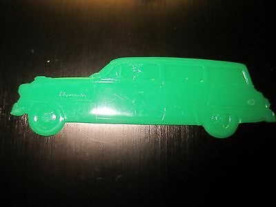 1953  Plymouth Station Wagon plastic salesman promo give away plaque toy