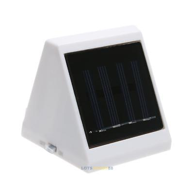 Outdoor 4 LED Solar Powered Stairs Fence Garden Security Lamp Waterproof LS4G