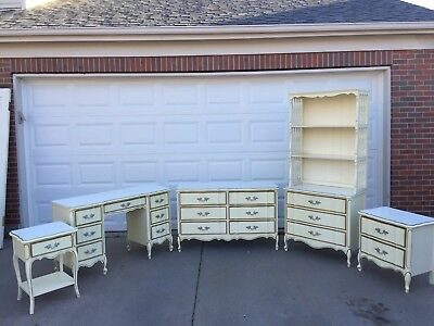 French Provincial Henry Link Dixie Bedroom 5 Piece Vintage Bedroom Set