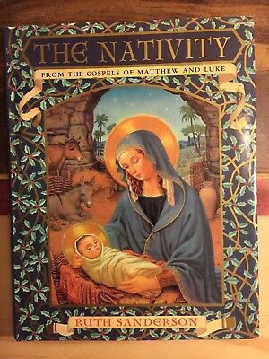 THE NATIVITY by Ruth Sanderson (2010, Hardcover) Like New free ship
