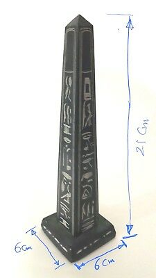 Obelisk Pharaonic Antiquity Statue made of natural basalt stone, hand made