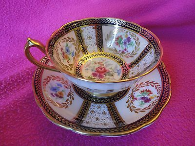 Paragon Cup & Saucer Reproduction of Service For Queen Mary Signed J.a. Robinson