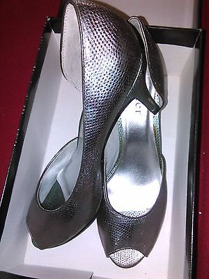 Holster Size 10 Pewter High Heel Shoes