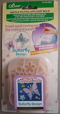 Clover Needle Felting Applique Mould Mold, Butterfly 8926