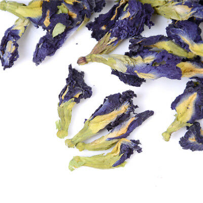100%  Pure Natural Dried Butterfly Pea Tea Blue Flowers Clitoria Ternatea FT