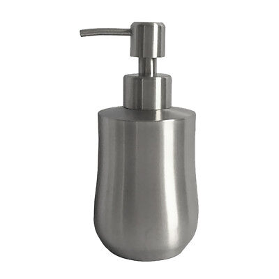 Soap Lotion Dispenser Pump Countertops Brushed Stainless Steel 6# 350ml