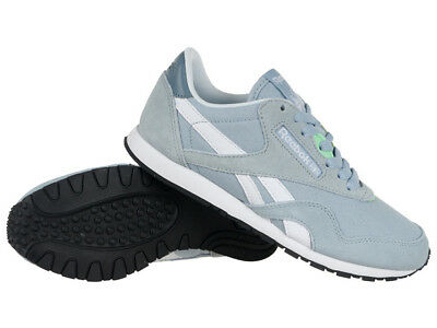 fb0675366ec6 Reebok Classic Nylon Slim HV Womens Leather Sneakers Low Shoes Casual  Trainers