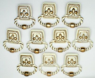 TEN Cool Hollywood Regency French Provencial Style Vintage Drawer Cabinet Pulls