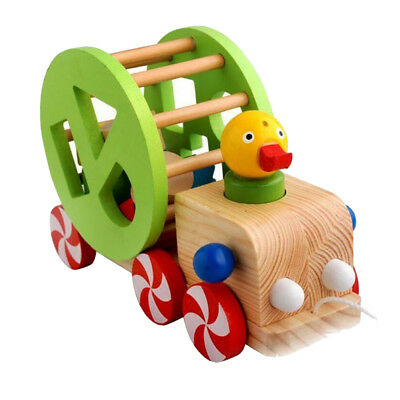 Lovely Duck Pull along Toy Wooden Push Pull Toy Baby/Toddler/Child Wood Toys