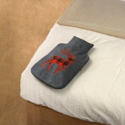 Hot Water Bottle with Knitted Cover - Dear / Stag Design