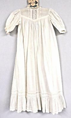 """Antique Christening Gown Baby 30"""" VICTORIAN  BRODERIE ANGLAISE Peg Hanger"""